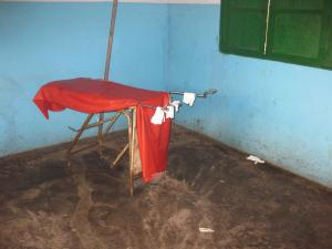 The maternity bed at the clinic